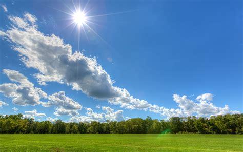 Hd Wallpaper For Macbook Pro The Sun Is Shining On The Blue Sky Hd Wallpaper