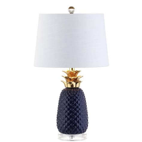 Pineapple Lights by Jonathan Y Pineapple 23 In Navy Gold Ceramic Table L
