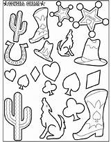 Cowgirl Coloring Charm Crayola sketch template
