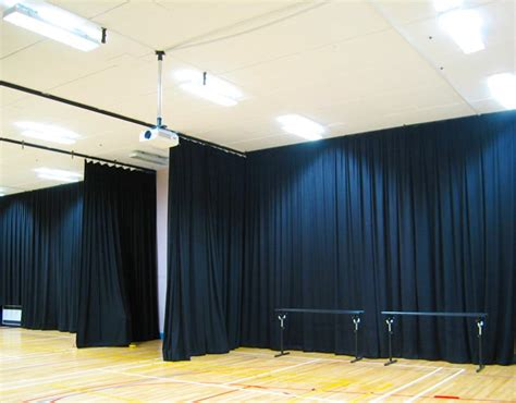 Sound Dening Curtains Industrial by Acoustic Curtains Black Wool Serge Curtains