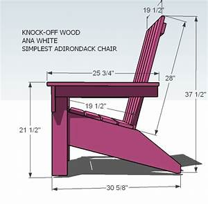 Ana White Ana's Adirondack Chair - DIY Projects