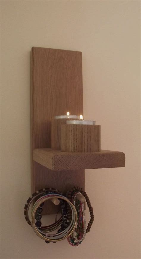 wall wood candle holder for 2 candles candle stick holder