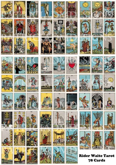 Maybe you would like to learn more about one of these? Rider Waite Tarot Cards Set Of 78 Cards Printable 3.5 X 2.5