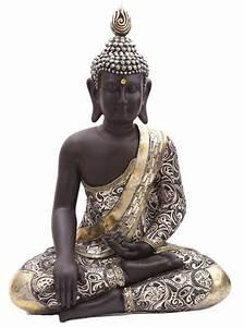 Buddha Figuren Kaufen : thai buddha figur sitzend mit metallartigen effekten 65 cm kaufen ~ Indierocktalk.com Haus und Dekorationen