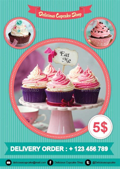 cupcake flyer design templates psd publisher