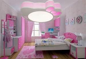 plafonnier chambre fille installation avec idee papier With idee papier peint chambre