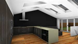kitchen lighting ideas vaulted ceiling single storey kitchen extension in west