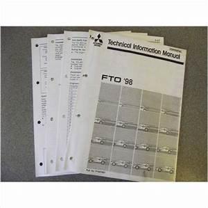 Mitsubishi Fto Technical Information Workshop Manual 1998