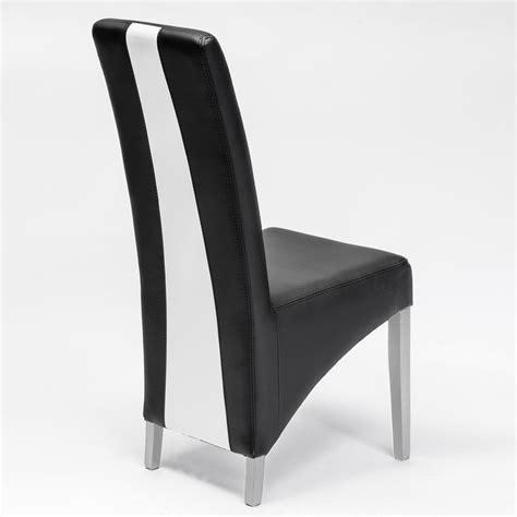 chaise moderne blanche chaise moderne noir et blanc en pu erica lot de 2