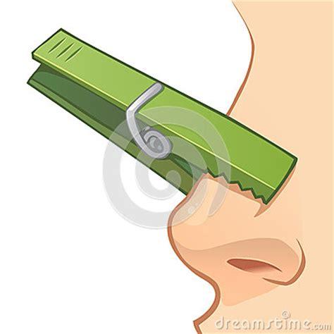 pince a linge nez nez avec la pince 224 linge illustration stock image 56250705