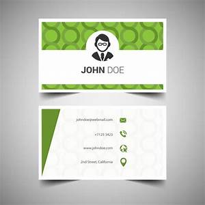 Green business card template vector free download for Green business card template
