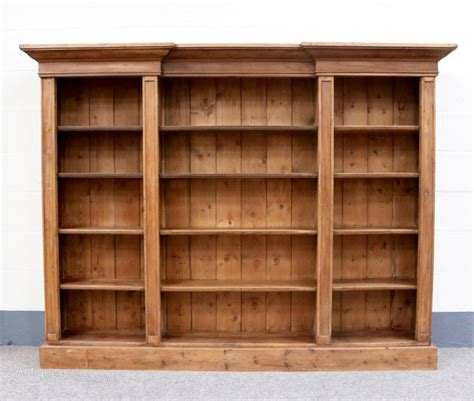 Pine Bookcase by Large 19th Century Pine Breakfront Bookcase Antiques Atlas