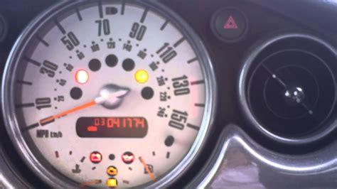 Mini One Dash Warning Lights