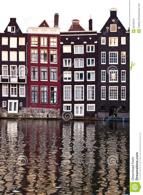 traditional dutch architecture houses stock photo image