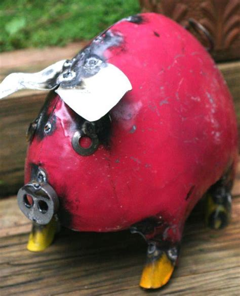 best lighted pig yard art large pig garden sculpture recycled metal pigs mexico yard the birdhouse