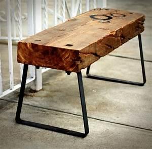 Welches öl Für Holztisch : couchtisch aus massivholz holzplatte und metallbeine wohnen pinterest holzplatte ~ Sanjose-hotels-ca.com Haus und Dekorationen