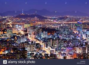 Downtown Seoul, South Korea skyline Stock Photo: 54036966 ...