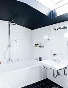 Peinture Sol Salle De Bain : du carrelage blanc dans la salle de bain c 39 est zen ~ Dailycaller-alerts.com Idées de Décoration