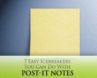 easy icebreakers     post  notes