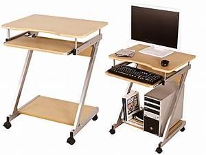 Kleiner Tisch Mit Rollen : computerwagen computertisch pc tisch rollen tisch buche nachbildung ulf ebay ~ Indierocktalk.com Haus und Dekorationen