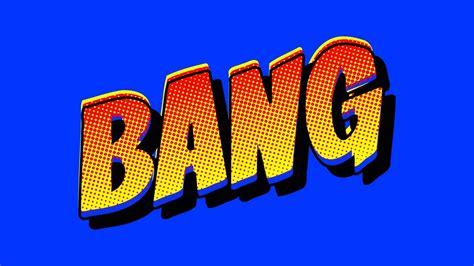 comic book bang  animation footage green screen
