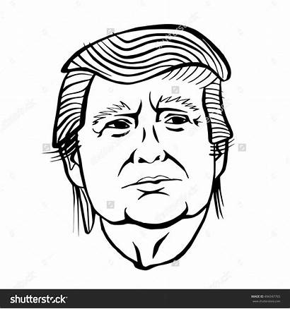 Coloring Trump Donald Drawing Pages Easy Printable