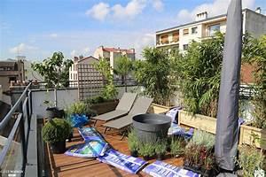 Aménagement Toit Terrasse : am nagement d 39 un toit terrasse montreuil f lix pignoux c t maison ~ Melissatoandfro.com Idées de Décoration