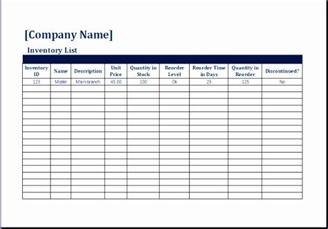 moving inventory list exceltemplates exceltemplates