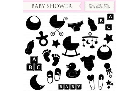 No physical product will be sent to you. Baby Shower SVG Files - New baby SVG Cutting File By ...