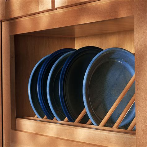 cabinet accessories unfinished pre assembled angled plate display rack  omega national