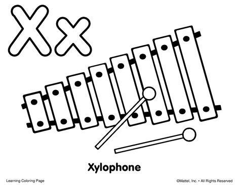 coloring page xylophone    coloring page
