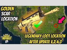 SCAR LOCATION in FORTNITE! HOW TO GET A SCAR EVERY TIME in FORTNITE BATTLE ROYALE! YouTube