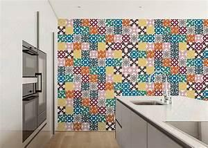 Carreau De Ciment Mural Cuisine : d coration murale design et tendance style carreau de ciment chez ksl living ~ Louise-bijoux.com Idées de Décoration