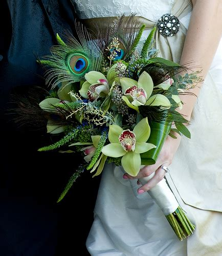 Peacock Bridal Bouquet Bridal Expo Chicago Milwaukee