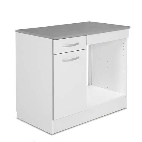 table de cuisine alinea meuble de cuisine pour four avec porte et tiroir 100cm