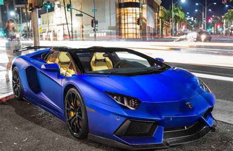 Electric Blue Lamborghini Aventador Roadster #carflash