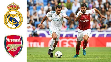 real madrid legends  arsenal legends goals