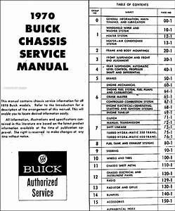 1970 Buick Repair Shop Manual Original