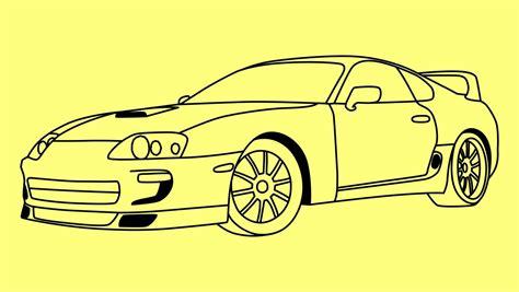 Как нарисовать Тойоту Супру