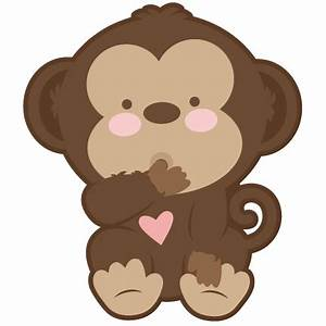 Baby Monkey SVG scrapbook cut file cute clipart files for ...