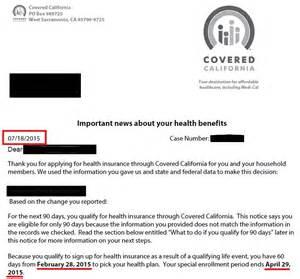 Insurance Eligibility Letter