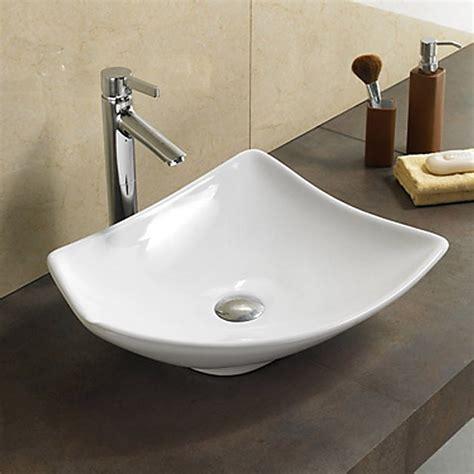 vasque asym 233 trique sans plage robinetterie 48x38 cm blanc feuille