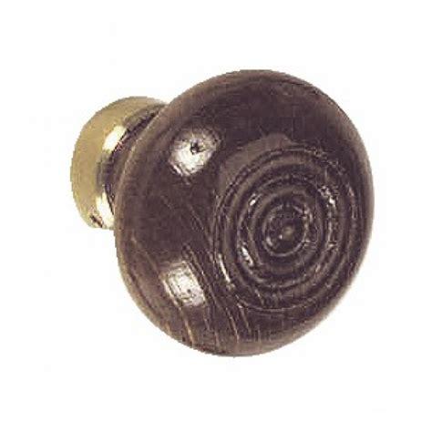 poignee de porte ronde en bois bouton rond bois et laiton dubois industries bricozor