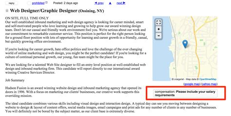 Where Do I Put Salary Requirements On A Resume by How To Kill At Finding On Craigslist