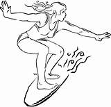 Coloring Pages Surfer Surfing Printable Getcolorings sketch template