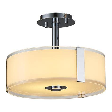 flush mount shop light shop ove decors bailey 14 in w chrome alabaster glass led