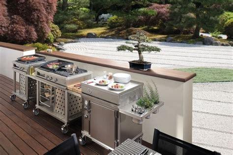 cuisine vert anis idées d 39 inspiration pour intégrer un barbecue ou une