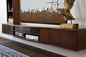 Furniture Wall Mounted Floating TV Stands Made Of Solid