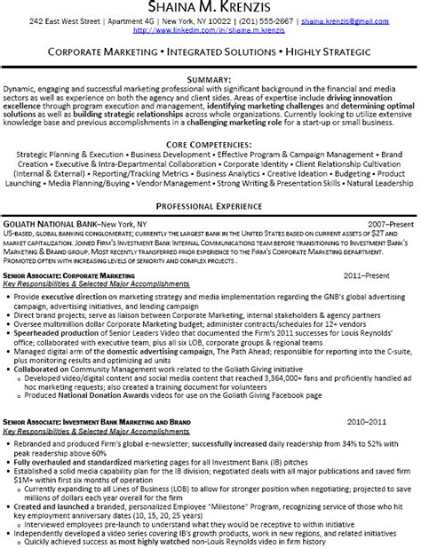 Investment Banking Resume Objective Exles by Investment Banking Analyst Resume Sle Recentresumes