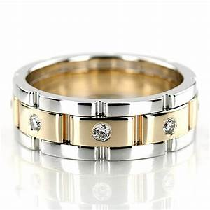 this rolex style diamond wedding band has round shaped With rolex wedding rings